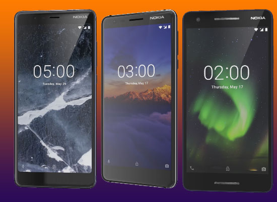 Nokia launches Nokia 5.1, Nokia 3.1 and Nokia 2.1 in India, Check price, features and specification.