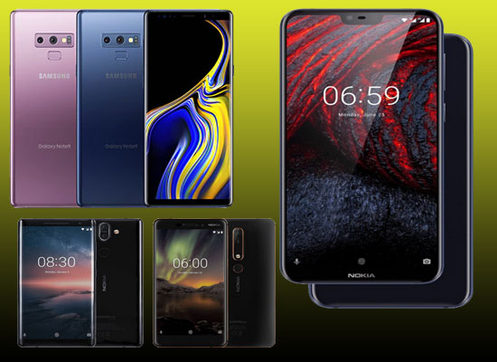 Samsung Galaxy Note 9 Nokia 6 1 Plus Oppo F9 Pro What All To