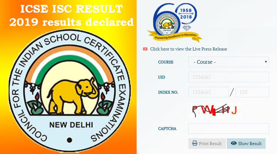 ICSE ISC RESULT 2019 results declared; this year 98.54% students passed this examination