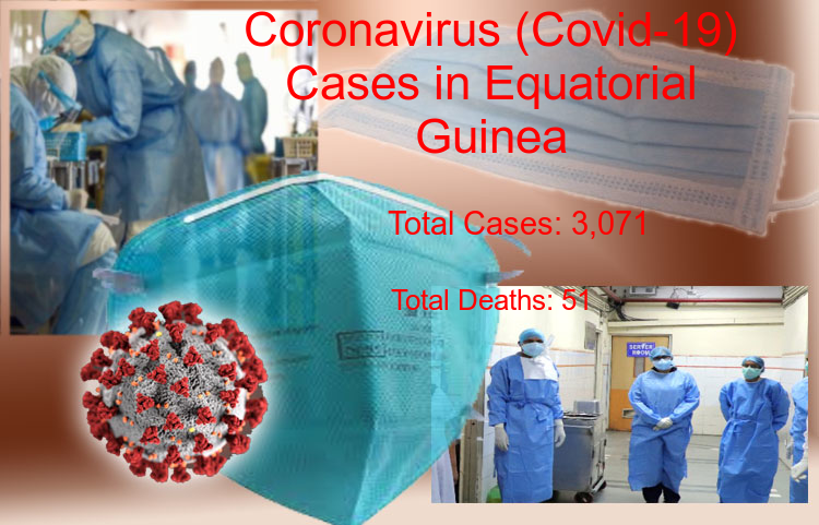 Equatorial Guinea Coronavirus Update - Covid-19 confirmed cases rise to 3,071, Total Deaths reaches to 51 on 12-Jul-2020