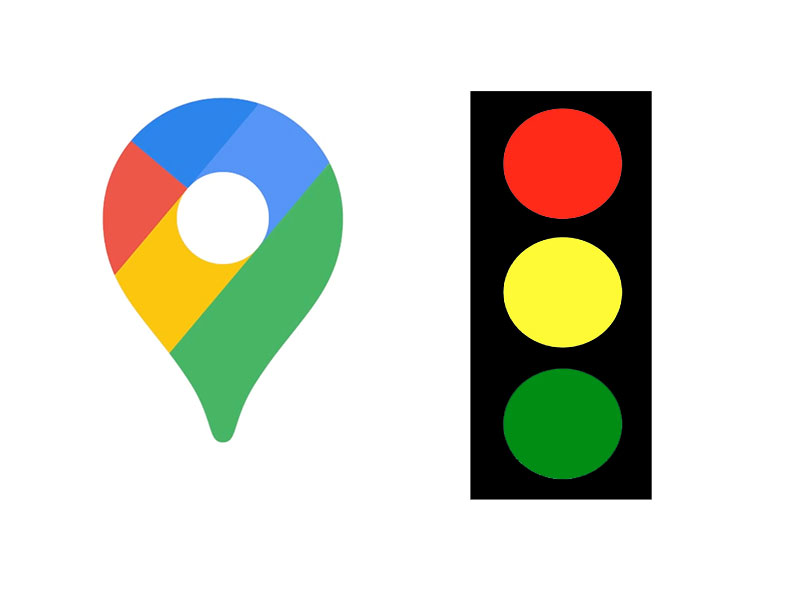 Google Maps might also show traffic lights too
