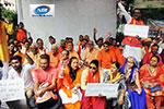 Hindu Goswami community protest at parliament street