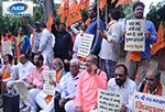 Activist of United Hindu Front protest in New Delhi