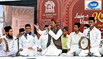 Kawali artists are performing a song in Jashn-e-Virasat-e-Urdu