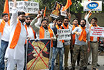 Hindu sena is protesting against celebration of Tipu Sultan Birthday