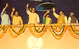 Rajnath Singh and Sushma Swaraj at grand celebration
